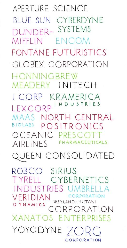 Corporate Abecedary