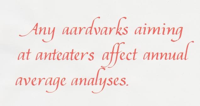 Damn you, aardvarks!
