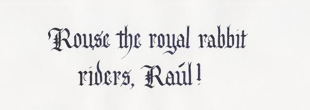 Damn you, Raul!