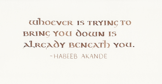 Quotation - Habeeb Akande