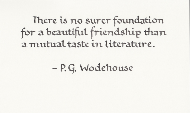 Quotation - PG Wodehouse