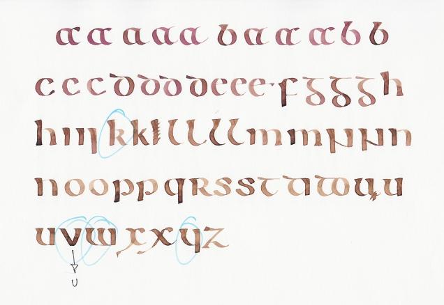 Kells - Letter practice